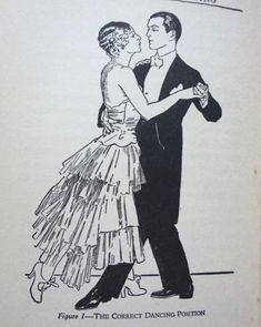 1920 Correct Dancing Position. From Pathe Historical Dance Collection.