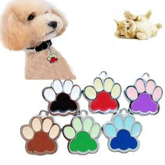 New Fashion Dog Jewelry Accessories Pet Collars Popular Footprints Puppy Rhinestone Pendant Lovely Pet Jewelry FreeShipping Dog Jewelry, Animal Jewelry, Pet Urns, Pet Collars, Pet Accessories, Pet Products, Cat Toys, Dog Bed, Small Dogs