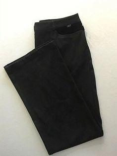 Size 12 St John Sport By Marie Gray Black Stretch Trousers Pants New Gorgeous Black Velvet Pants, Black Pants, Brown Jeans, Cute Clothes For Women, Trouser Pants, Black Pattern, Black Denim, Mom Jeans, Size 12