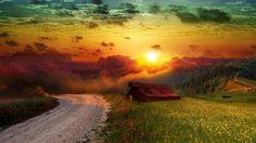 Golpear la puesta del sol.