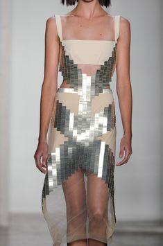 I could never pull this off but I just had to Pin it because it is such a cool design! Dion Lee Fall 2014