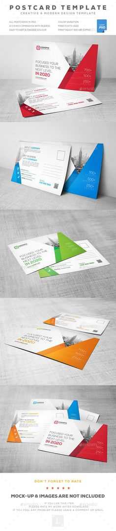 Corporate Postcard — Photoshop PSD #corporate #residential • Available here → https://graphicriver.net/item/corporate-postcard/18250254?ref=pxcr