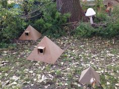 Feral Cat houses | Chicago Artists Commissioned to Make Outdoor Cat Houses » pyramid cat ...