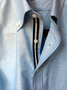 grosgrain trim placket