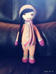 lalylala doll made by Angela W. / based on a lalylala crochet pattern