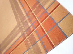 hand-painted original plaid design  canvas floor mat / rug  by Christopher Paul - cpstudios, $80.00