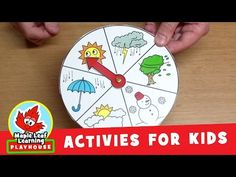 Weather Wheel Activity for Kids   Maple Leaf Learning Playhouse - YouTube