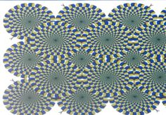 Look at the dots to stop the spinning