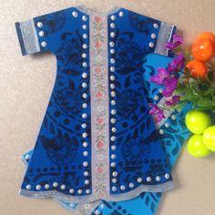 Wood painting wood object blue kaftan ahsap boyama dekoratif obje handmade design
