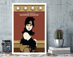 Moonrise Kingdom Suzy Wes Anderson Minimal Movie by MunaMia
