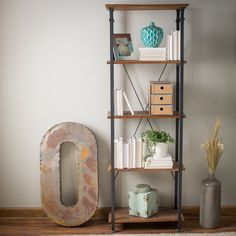 Homelegance Factory Bookcase - Used on its own as a bookcase or in conjunction with the matching TV stand (sold separately), the Homelegance Factory Bookcase provides steampunk style...