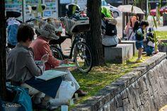 #65 Cours de dessin au bord d'un canal de Kyoto
