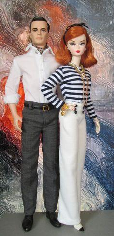 Silkstone Barbie Mad Men Dolls Joan Holloway &  Don Draper