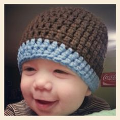 Boys 9 month beanie www.facebook.com/happilyhooked82