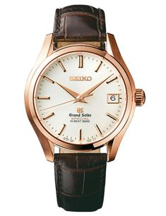 Grand Seiko SBGH022, 40.2 mm diameter. Rose Gold case. 55 Hours power reserve.