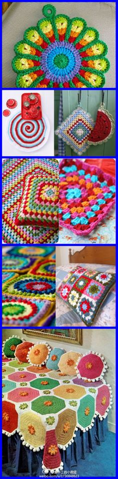 tutorials CROCHET INSPIRATION http://pinterest.com/gigibrazil/crochet-e-tricot-home/