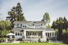 Traditional Shingle-Style Rear Exterior   LuxeSource   Luxe Magazine - The Luxury Home Redefined