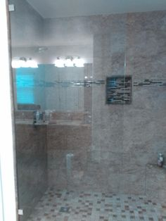 Beautiful new shower we did