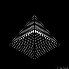 artists on tumblr swirling pyramids gif
