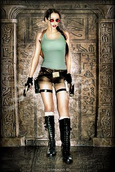 Lara Croft, old school Tomb Raider