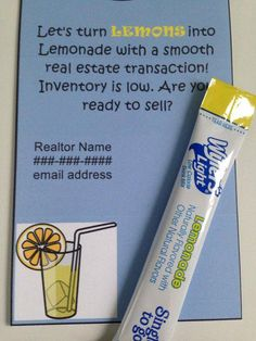 Real Estate Door Hangers set of 20 but shaped like a lemon