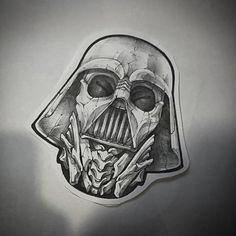 darth vader skeleton tattoo