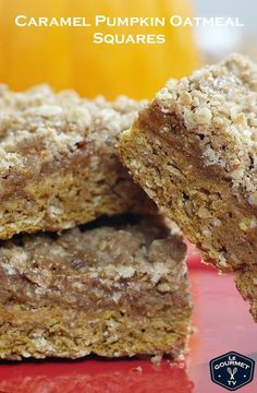 Pumpkin Caramel Oatmeal Squares | Le Gourmet TV Recipe Cooking Videos