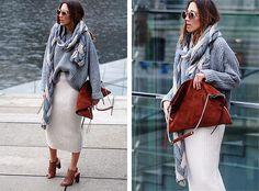 Get this look: http://lb.nu/look/7960140  More looks by Nina @  www.helloshopping.de: http://lb.nu/helloshopping  Items in this look:  Stefanel Scarf, Asos Sweater, Asos Skirt, All Saints Bag, Pour La Victoire Heels, Jimmy Choo Sunnies   #chunky #casual #chic #street #knit #knitwear #wrapped #oversize #oversized