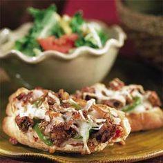National Soyfoods Month- Recipe #27 - Veggie Sausage Pizzas