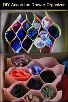 Organize socks and underwear with this DIY felt accordion organizer.Organize socks and underwear with this DIY felt accordion cabinet underwear organizer non-woven bra underwear socks drawer storage box cabinet underwear organizer fleece bra Underwear Storage, Underwear Organization, Sock Storage, Diy Storage, Drawer Storage, Storage Hacks, Storage Boxes, Storage Ideas, Diy Organizer