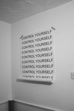 I'm done with controlling my damn self