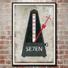 Se7en Minimalist Poster by MarkItZeroArtStudio on Etsy