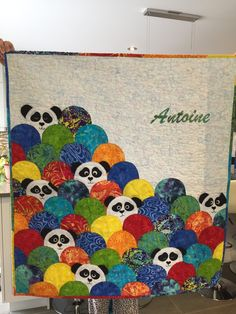 Panda Baby Quilt With A Lurking Kitty As A Hidden Guest