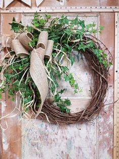 """22 """"Bestseller Door Wreath, Greenery Wreath - Wreath Ideal for the whole year, everyday burlap wreath, door wreath, front door wreath Greenery Wreath, Grapevine Wreath, Wreaths For Front Door, Door Wreaths, Burlap Wreaths, Beautiful Front Doors, Welcome Wreath, Trendy Home, Perfect Gift For Her"""
