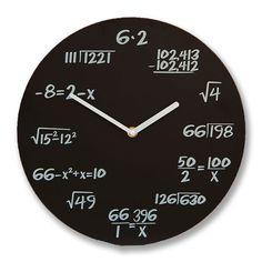 Szeretnél egy egyedi órát ajándékozni? A célszemély szereti a matematikát? Akkor megtaláltad a tökéletes ajándékot! A matematikus óráról nem olyan egyszerű leolvasni az időt, mint elsőre látszik!... Birthday Gifts For Best Friend, Best Friend Gifts, Math Clock, Baba Image, Gadgets, Design, Best Friend Presents, Gadget