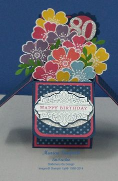 Card In A Box created using Morning Meadow Stamp Set from Stampin' Up!