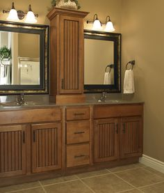 If We Do A Double Vanity, It Would Be Nice To Have Cabinets Under And