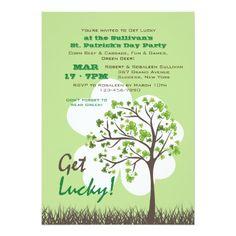 Get Lucky Tree St. Patrick's Day Invitation