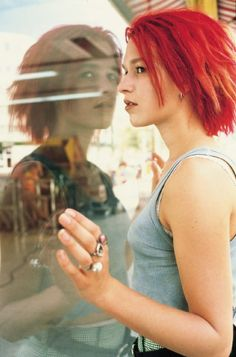 Franka Potente in Run Lola Run (1998) aka Lola Rennt.