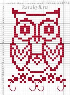 Cross Stitch Owl, Free Cross Stitch Charts, Cross Stitch Alphabet, Cross Stitch Animals, Modern Cross Stitch, Cross Stitching, Cross Stitch Patterns, Loom Patterns, Knitting Patterns