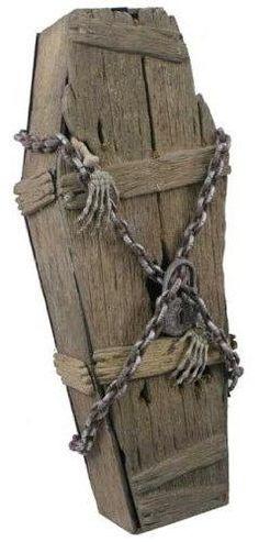 break out halloween coffin prop