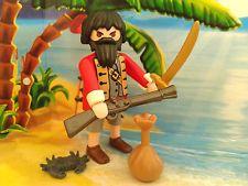 Playmobil Pirat / Seeräuber Figur mit Beutel, Krebs, Gewehr und Säbel, TOP!!!