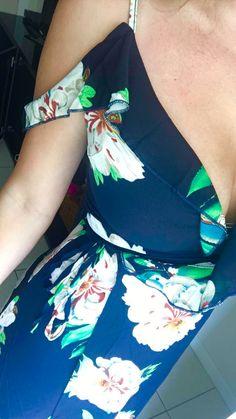 SheIn.com Cold Shoulder Floral Frill Dress - $18