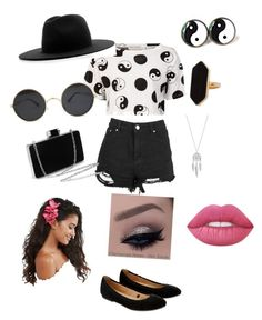 """summer outfit 2016; black and white"" by aubrey-corbett on Polyvore featuring beauty, Être Cécile, Accessorize, Études, ASOS, Jaeger, Lucky Brand and Lime Crime"