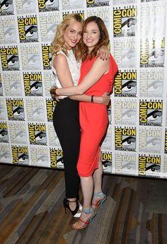 Nora Arnezeder and Kristen Connolly at Comic-Con International 2015 - CBS Television Studios Press Room