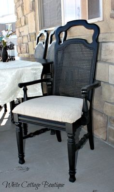 Beautiful Refinished Cane Chairs :: Hometalk
