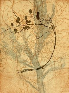 "Replant: a new generation of botanical art. ""Sand Palm, Dodder Laurel, Flat-leaf Plant"" 2006, etching on paper. Judy Watson http://www.magsq.com.au/01_cms/details.asp?ID=651"