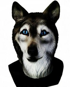 Adult realistic latex mask animal mask latex Halloween wolf Huskies mask | eBay