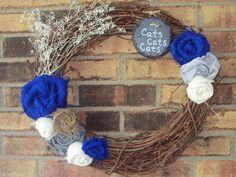 Kentucky wildcats wreath