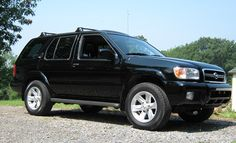 "My current ride: 1996 Nissan Pathfinder  5speed, rear wheel drive, custom stereo, 1"" body & suspension lift."